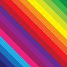 RAINBOW STRIPE bright bold colourful by Kat Massard