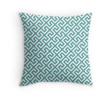 Straight Single Line Tasty Mint Throw Pillow