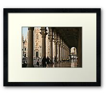 Under the arches Framed Print