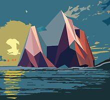Night Mountains No. 4 by BakmannArt