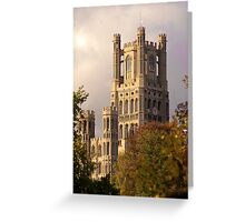 Ely Cathedral Tower (UK) Greeting Card