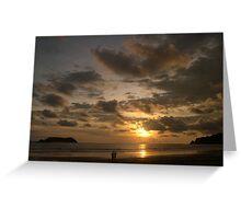 The Sun Sets on Manuel Antonio National Park Greeting Card