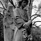 Graveside statue - German Cemetary Manitowoc Wisconsin by loralea