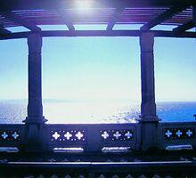 Sunset from the veranda of Miramare Castle, Trieste, Italy by Igor Pozdnyakov