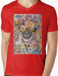Vintage Comic Nova Mens V-Neck T-Shirt