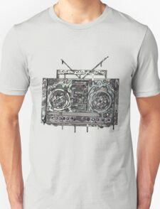 Boom Box Gray Unisex T-Shirt