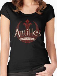 Antilles School of Flying (Dark) Women's Fitted Scoop T-Shirt