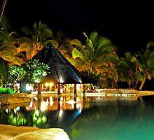 Pool Bar at Sonaisali Island Resort, Fiji by Aaron Murgatroyd