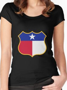 Texas Sign Shield / Tejas Signo Escudo Women's Fitted Scoop T-Shirt