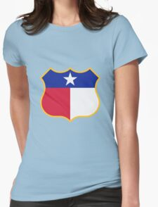 Texas Sign Shield / Tejas Signo Escudo Womens Fitted T-Shirt