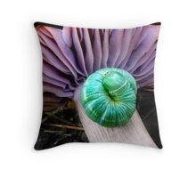 Curled For Warmth Throw Pillow