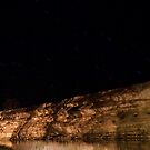Swan Reach Cliffs at night by Dave  Hartley