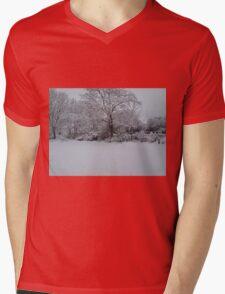 Snowy Scene Mens V-Neck T-Shirt
