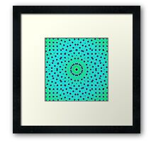 Sea Green Lattice Kaleidoscope Framed Print