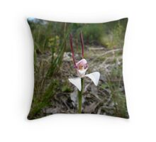 Rabbit Orchid Throw Pillow