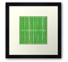 Tiki -Tok green Framed Print