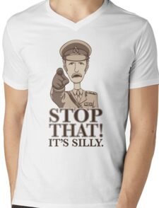 Stop That! Mens V-Neck T-Shirt
