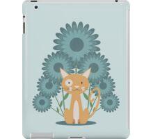 Cat in the Flowerfield iPad Case/Skin