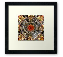 Silver and Gold Celtic Knot Pattern Framed Print