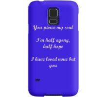 Persuasion quote Samsung Galaxy Case/Skin