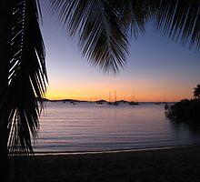 Setting sun over Airlie Beach by scruffycat