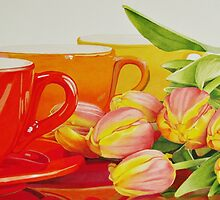 Cups and tulips by -SLC-