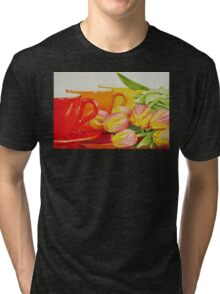 Cups and tulips Tri-blend T-Shirt