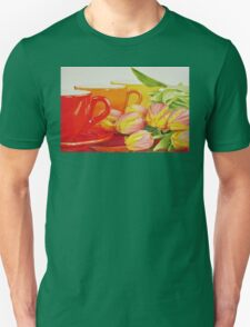 Cups and tulips Unisex T-Shirt