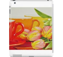 Cups and tulips iPad Case/Skin