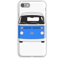 Late Bay VW Camper Mid-Blue Front iPhone Case/Skin