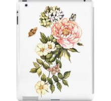 Watercolor vintage floral motifs iPad Case/Skin