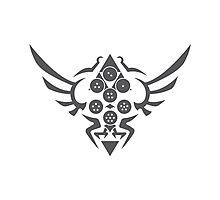 Hylian Dragon Ball Crest (gray) Photographic Print