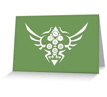 Hylian Dragon Ball Crest (white) Greeting Card