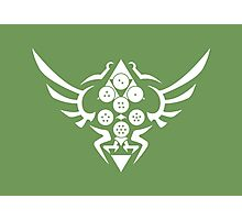 Hylian Dragon Ball Crest (white) Photographic Print