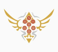 Hylian Dragon Ball Crest (gold & orange) Kids Tee
