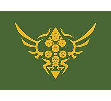 Hylian Dragon Ball Crest (gold) Photographic Print