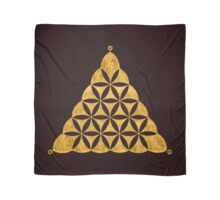 Flower Of Life, Sacred Geometry, Crop Circle, Triangle Scarf