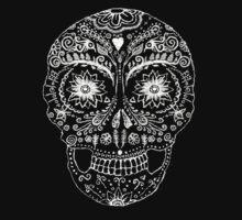 henna calavera- white by pixelwolf