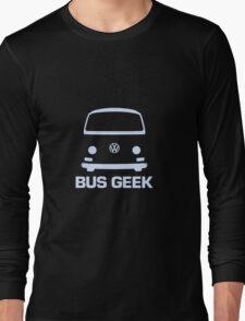 VW Camper Bus Geek Pale Blue Long Sleeve T-Shirt