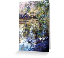 Sunday Creek Reflections Greeting Card
