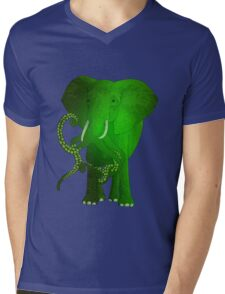 evolution of the elephant Mens V-Neck T-Shirt