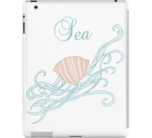 Shell with waves iPad Case/Skin