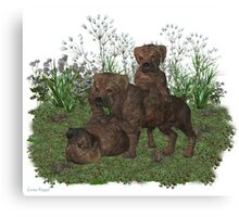 March Puppy Canvas Print