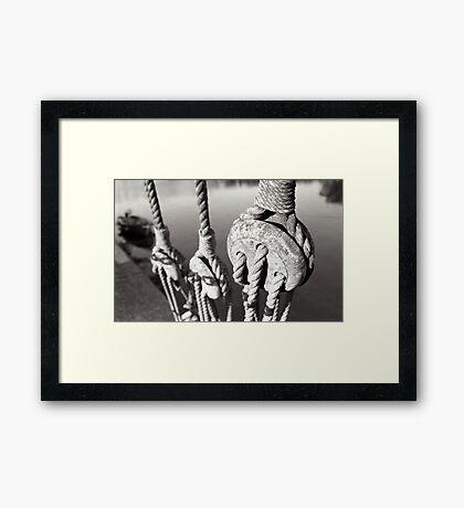 ropes n ting Framed Print