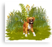 May Puppy Canvas Print