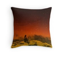Burning Hill Throw Pillow