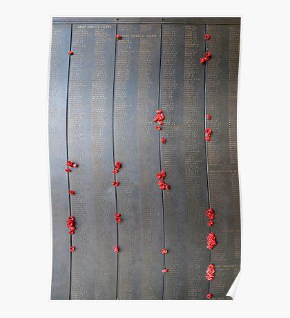 Honour Roll -National War Memorial Poster