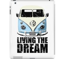 VW Camper Living The Dream Pale Blue iPad Case/Skin
