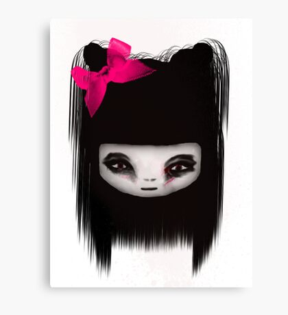 little scary doll Canvas Print