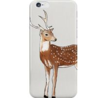 Nursery art - Deer that turns wishes iPhone Case/Skin